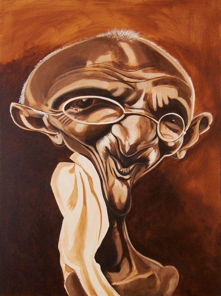 Gandhi Caricature Acrylic