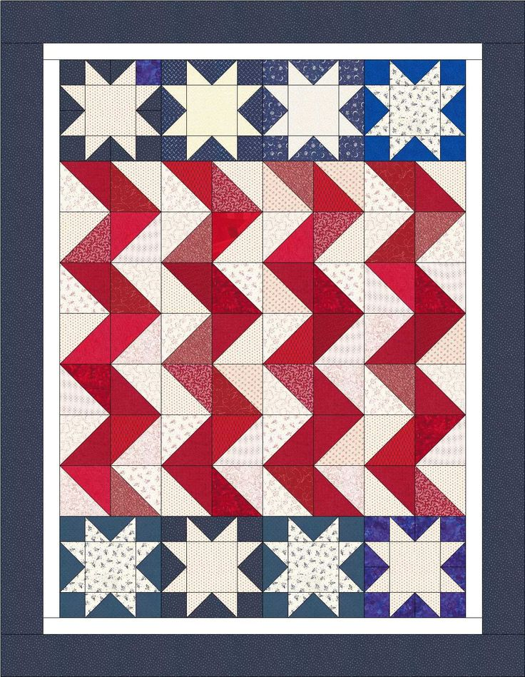 Here are several fun and free patriotic quilt ideas.
