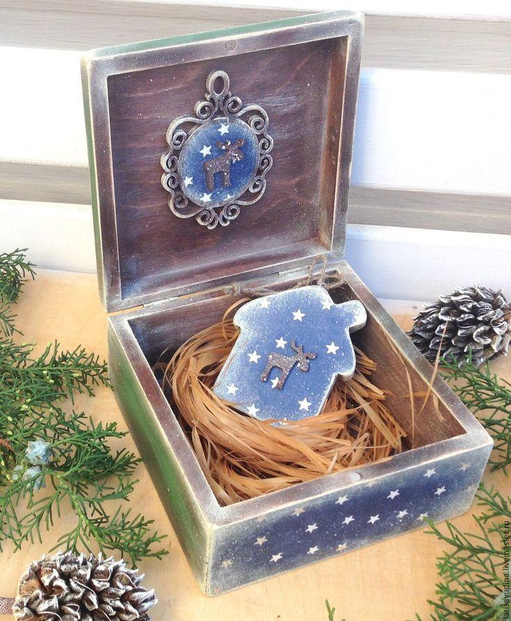 Купить Шкатулка Сказочный Город - комбинированный, дерево, деревянные заготовки, шкатулка для украшений, шкатулка декупаж