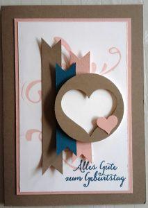 Stampin Up Geburtstagskarte Herz
