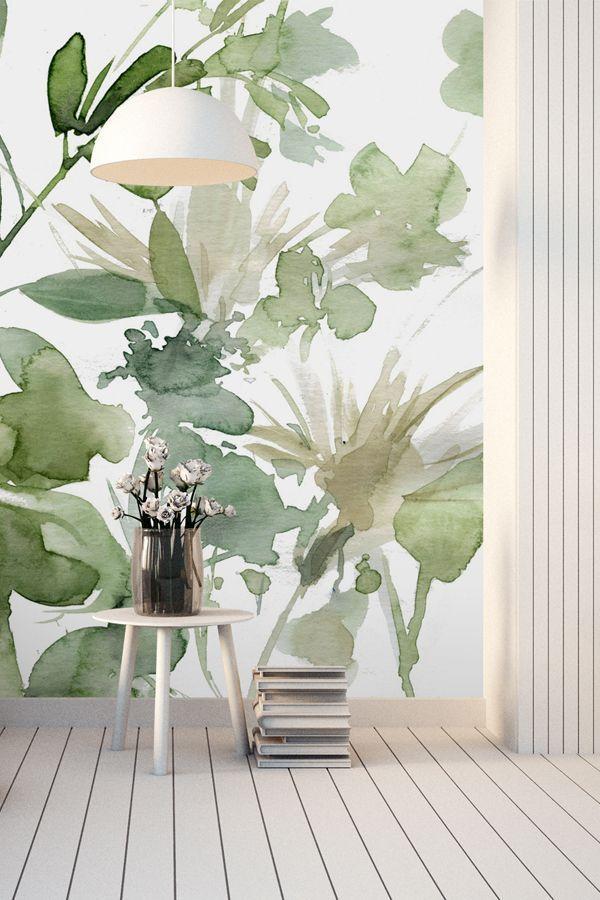 Garden Sage Home Wallpaper Flower Mural Wall Wallpaper