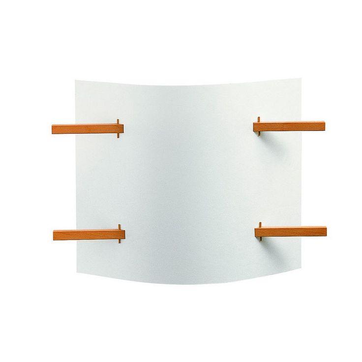 DOMUS 木製ブラケットライト FOLIO  和洋どちらにもマッチする、暖かみあるデザインのブラケットライト。手透きのペーパーのようなシェードから広がる光は、心地よく落ち着いた空間を演出してくれます。