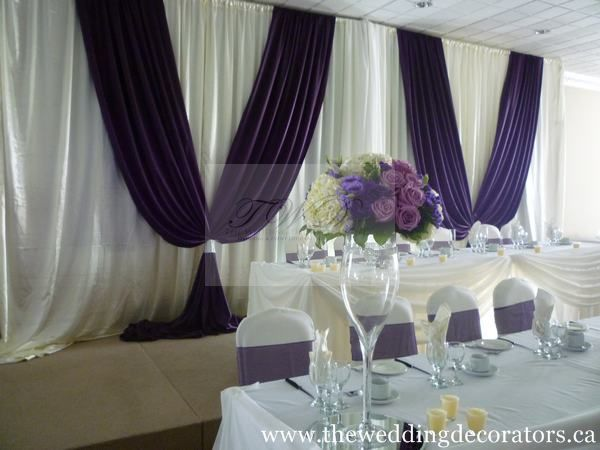 Bridal table backdrops image 52 of 201 wedding ideas for Backdrop decoration for church