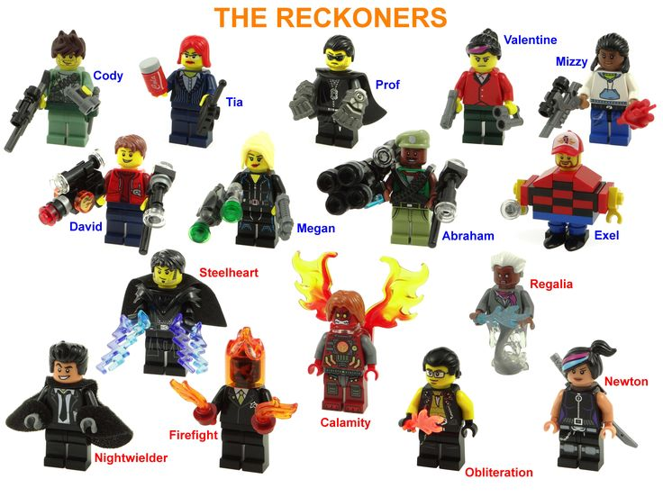 Lego fan art of The Reckoners by Brandon Sanderson.  Artwork by Rick Martin.
