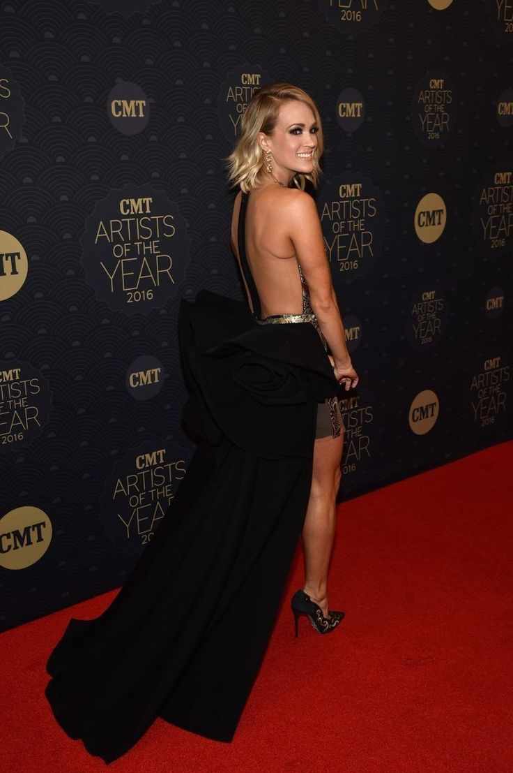 Carrie Underwood Looks Like a Goddess in Sheer Panel Dress