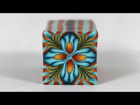 Watch me make a polymer clay millefiori cane.