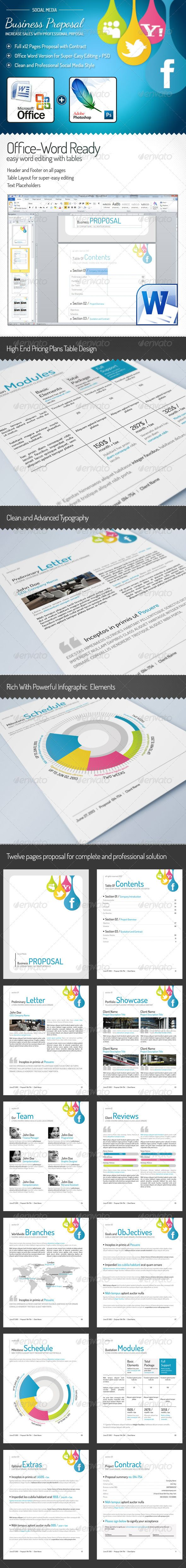 Full Proposal Template + Office Word Version  #GraphicRiver          Updates             26.10.2012, fix the office word version       Complete Business Proposal  A full generic business Proposal Template, A total of Twelve print ready 8.5×11 PSD template files for a complete proposal.