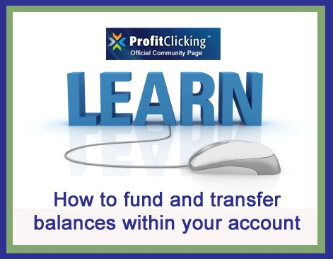 How to set up a payment processor, add funds and to transfer balances within your Profit Clicking account.