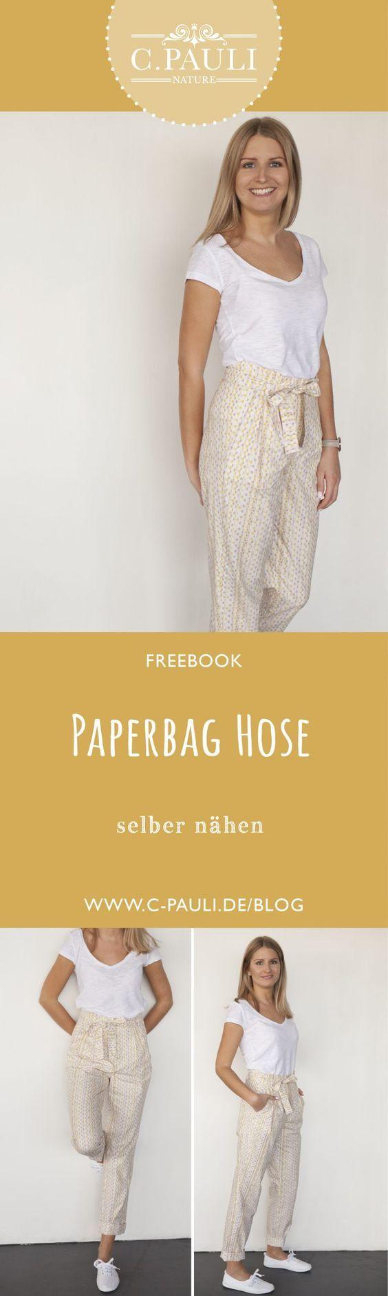 Moderne high waist Paperbag Hose!