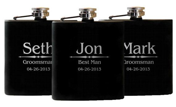 3+Personalized+Flasks+Groomsmen+Gifts++by+UrbanFarmhouseTampa