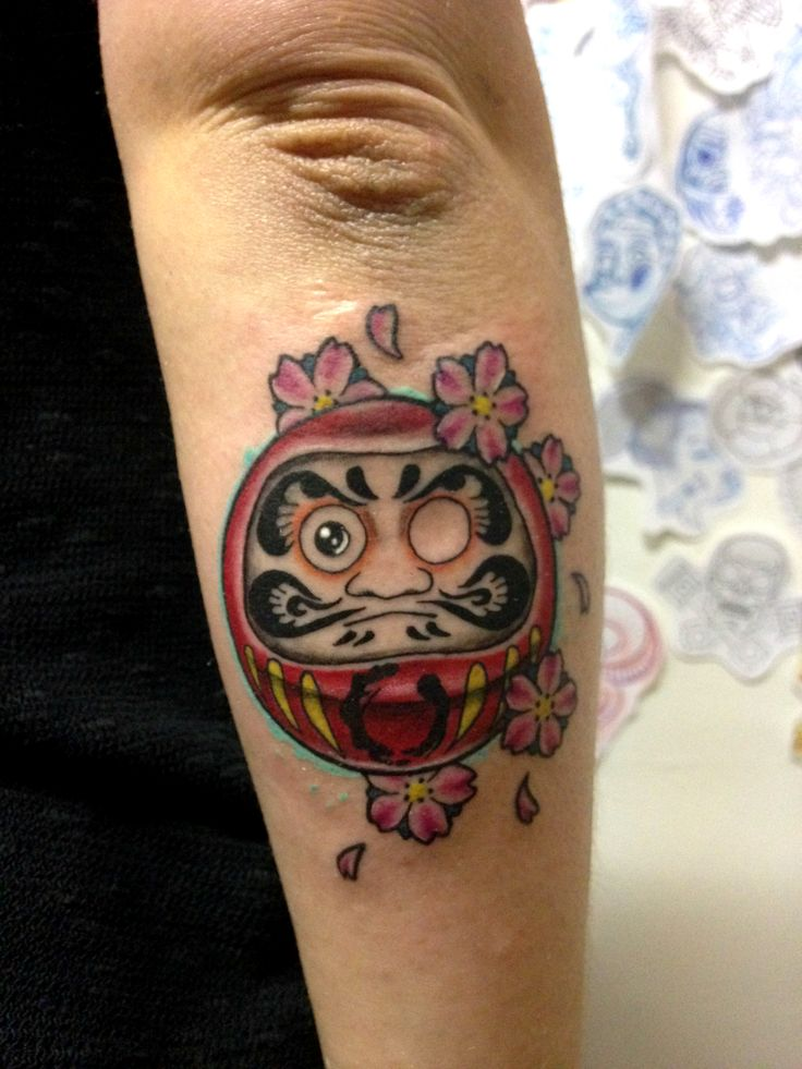 #daruma #cherry #flowers #japan #japanese #colored #colors #tattoo #tattooed…