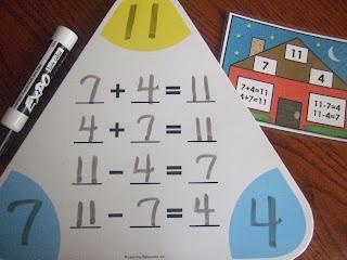 First Grade School Box: Fact Family CardsIdeas, Facts Families, Schools Math, Grade Schools, Families Cards, Math Centers, Schools Boxes, Families Activities, First Grade