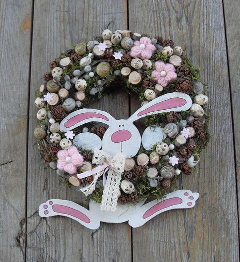 Nyuszi hopp!! - húsvéti ajtódísz Dekoráció, Otthon, lakberendezés, Húsvéti apróságok