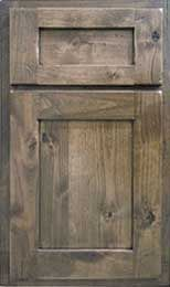 Knotty Alder Paneling Gray Knotty Alder Door Style