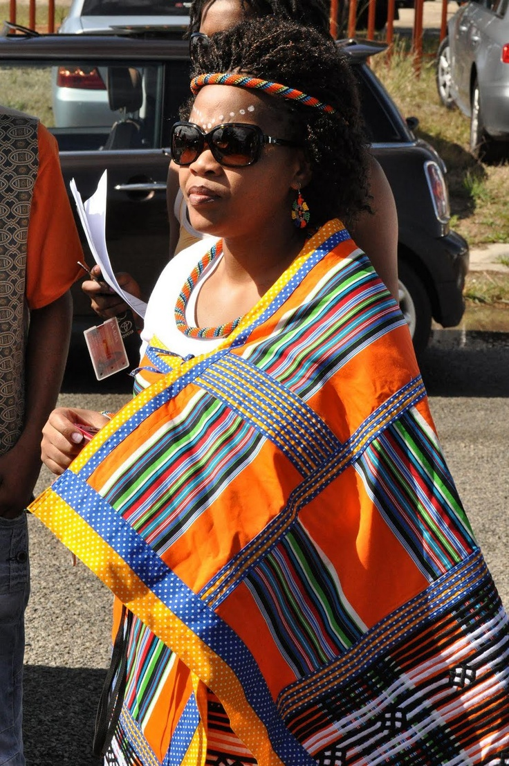Traditionally-dressed Xhosa Guest
