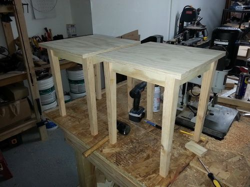 How To Build Plywood End Tables For $6 Dollars Each – Photo Step By Step: