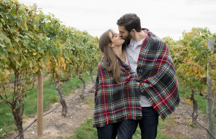 Vineyard Engagement Session at North Shore Winery. What to Wear and cute ideas for Engagement photos