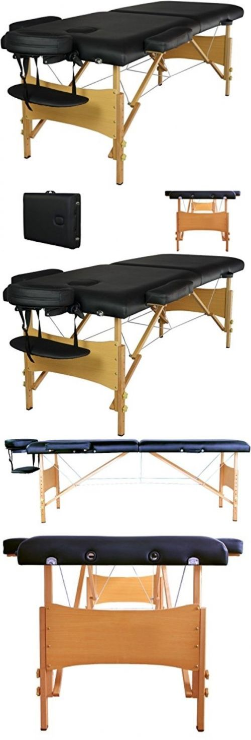 Massage Tables and Chairs: 84 Fold Portable Massage Table Facial Spa Beauty Bed Tattoo W/Free Carry Case BUY IT NOW ONLY: $90.87