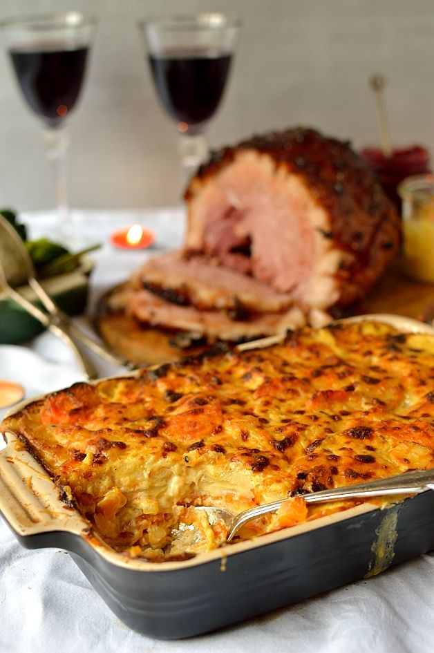 Ginger Glazed Gammon With Root Vegetable Gratin | Recipe ...