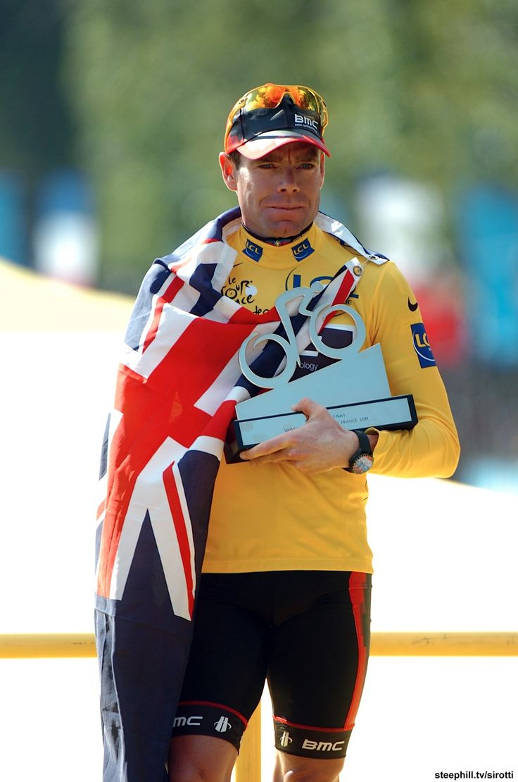 2011 Tour de France Champion, Cadel Evans (way to go Cadel! - you're not Andy... but you're also not Alberto - and you earned it yesterday! well fought tour!)