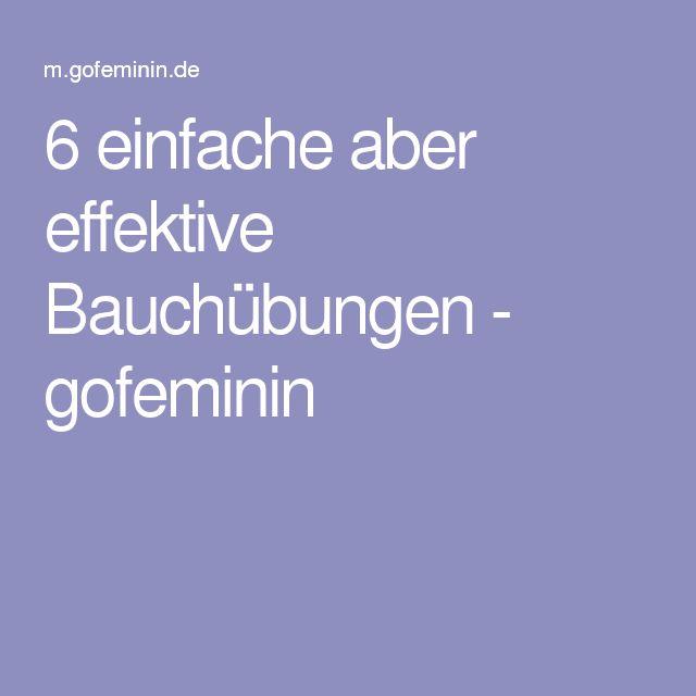 6 einfache aber effektive Bauchübungen - gofeminin