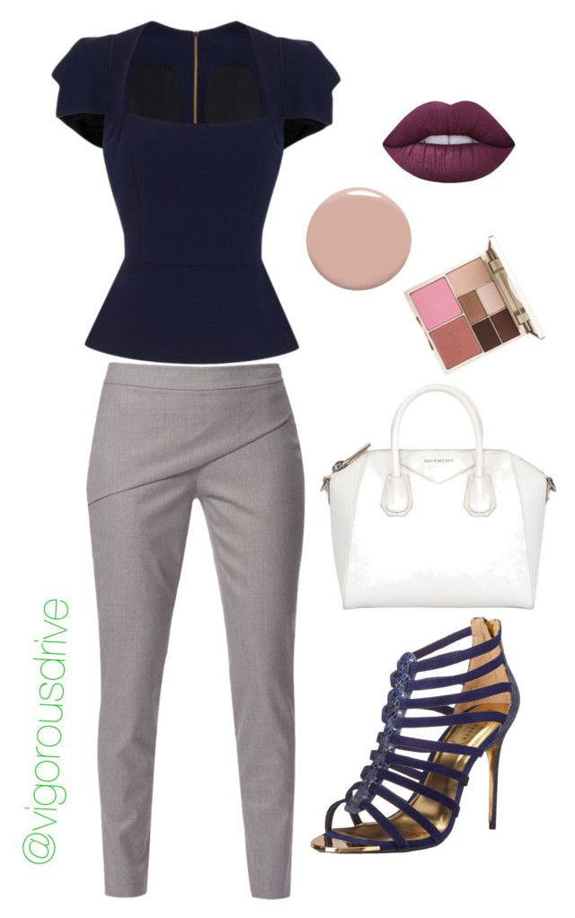 """""""Work basics"""" by vigorousdrive on Polyvore featuring Roland Mouret, WtR, Ted Baker, Givenchy, Christian Louboutin and Stila"""