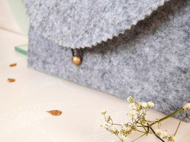 DIY Mode // La Pochette en Feutrine // La Fabrique Pailletée ♡