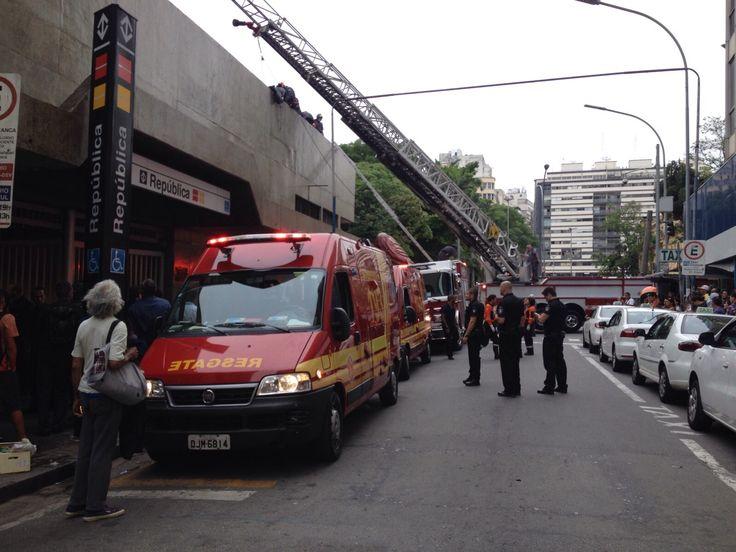 São Paulo: É grave estado de saúde de homem que caiu de telhado no Metrô República