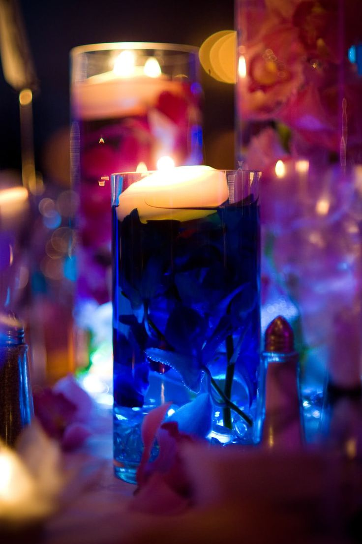 Wedding Centerpieces With Submersible Lights : Centerpieces Ideas, Floating Centerpieces, Flower Wedding Centerpieces ...