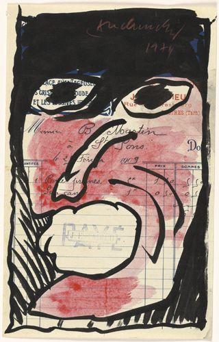 Pierre Alechinsky (1927) - 1974, Pour acquit. Koninklijke Musea voor Schone Kunsten van België