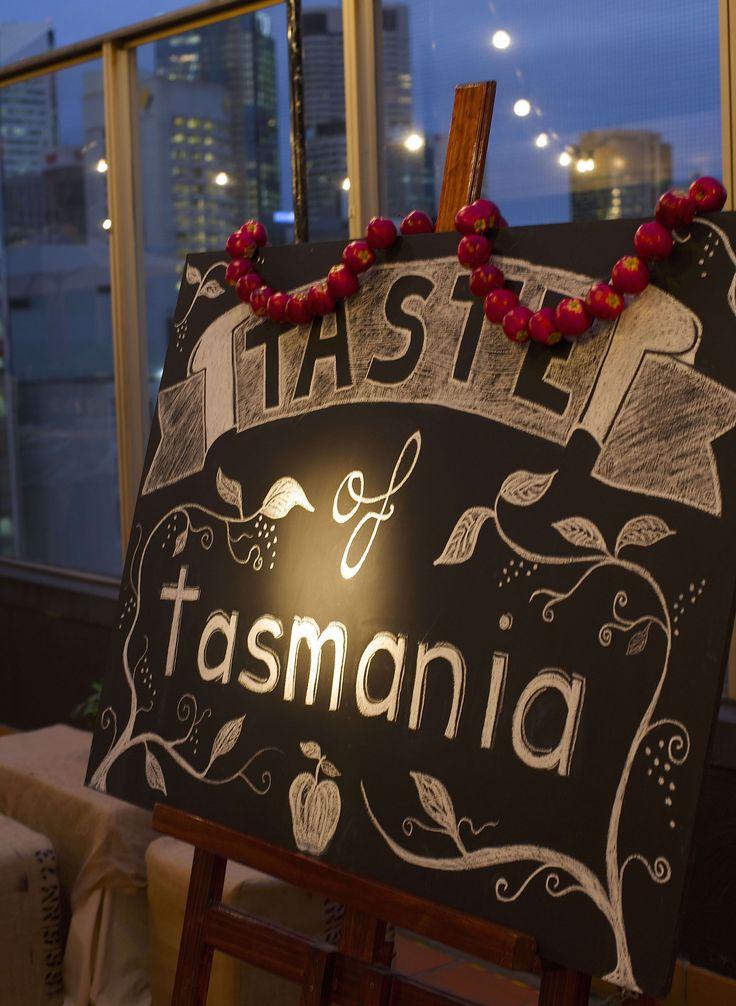 Blackboard art for a Tasmanian treat.