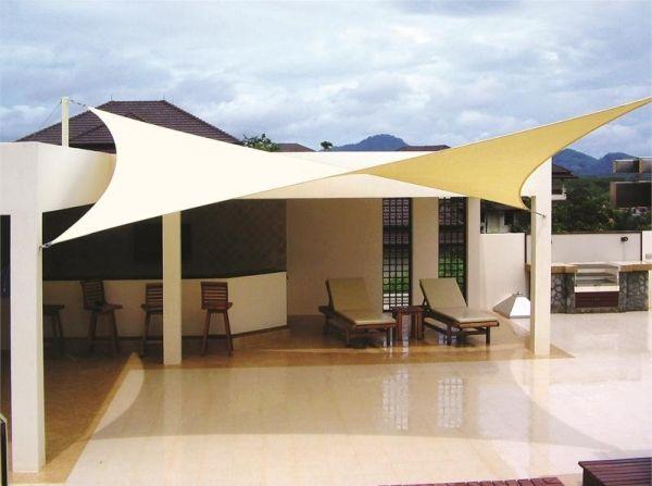 Sonnen Schutzsegel-Wasserdicht Stoff-Terrassenmöbel