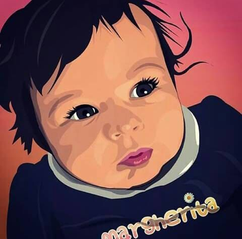 Unique Original Digital Custom Personalized Portrait di GiArtShop