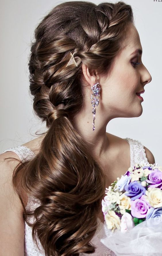 35 Beautiful Wedding Hairstyles For Long Hair: 25+ Best Ideas About Braided Wedding Hairstyles On