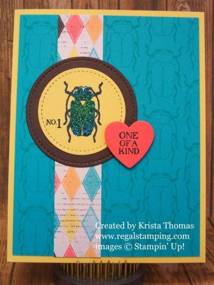 Iridescent Beetle by Krista Thomas, Stampin' Up! Occasions 2017, Beetles & Bugs, www.regalstamping.com