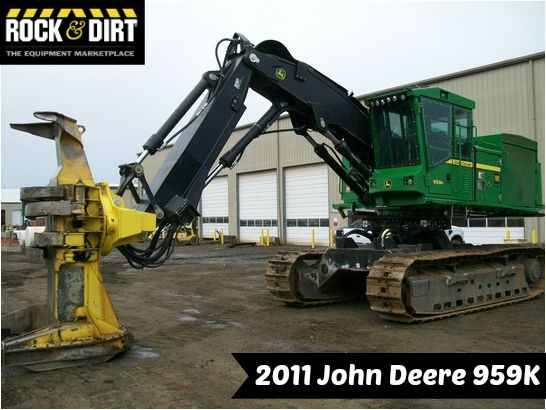 "Our Featured Feller Buncher is a 2011 John Deere 959K, Cab, 28"" Pads, FR24B Sawhead, A/C, 5,312 Hrs. We have a great selection of Forestry Equipment! You can view them all at: http://www.rockanddirt.com/equipment-for-sale/ALL-logging-forestry #RockandDirt #HeavyEquipment #ForestryEquipment"