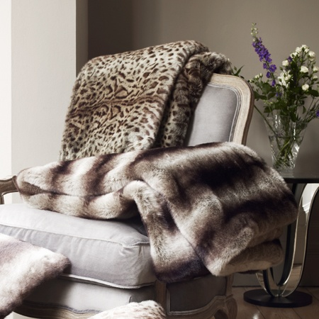 Recliner Sofa Shop Light Grey Faux Fur Throw Large and luxe our grey