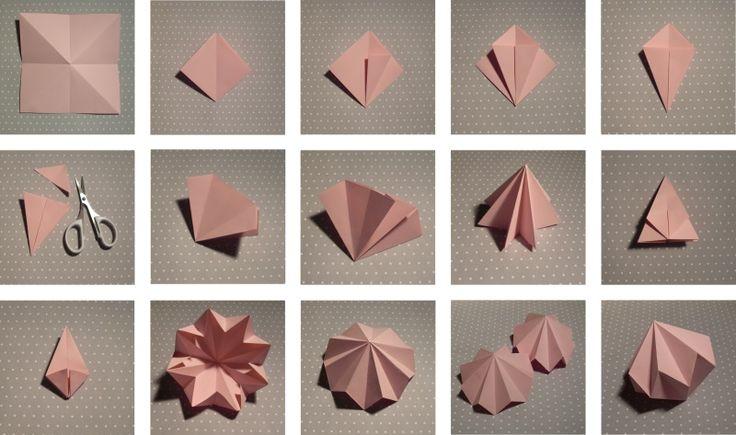 DIY Papierdiamanten Origami Style | DIY Paper Diamond Origami Style© Karolin Buckl | www.karolin-buckl.de