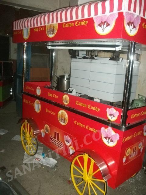 Popcorn + Pamuk Şeker + Bardakta Mısır Arabası » - Sanayi tipi