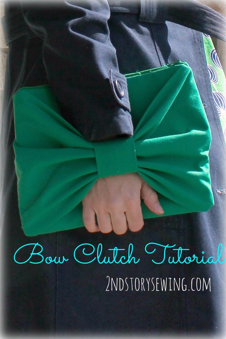 2nd Story Sewing: Bow Clutch Tutorial