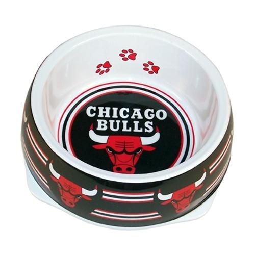 Chicago Bulls dog bowl