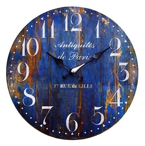 Rustic Blue Paris Clock AU$19.95