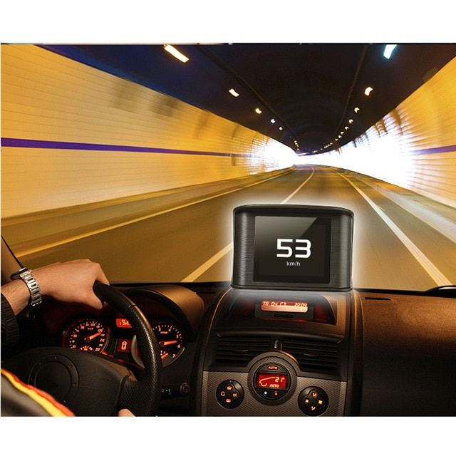 Car HUD Head Up Display X5 Overspeed Warning Windshield OBD2 Interface Projector