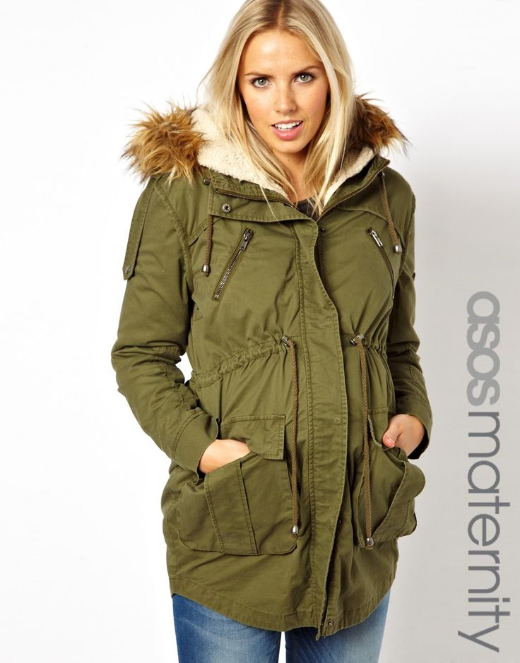 ASOS Maternity | ASOS Maternity Parka With Detachable Faux Fur Lining at ASOS