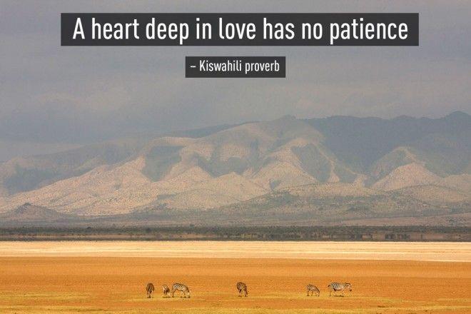 Kiswahili proverb, Tanzanian proverb