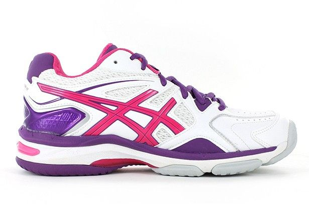 ASICS Womens Gel-Netburner 17 (D) White/Burnt Red/Barossa - Womens Netball Shoes - Womens