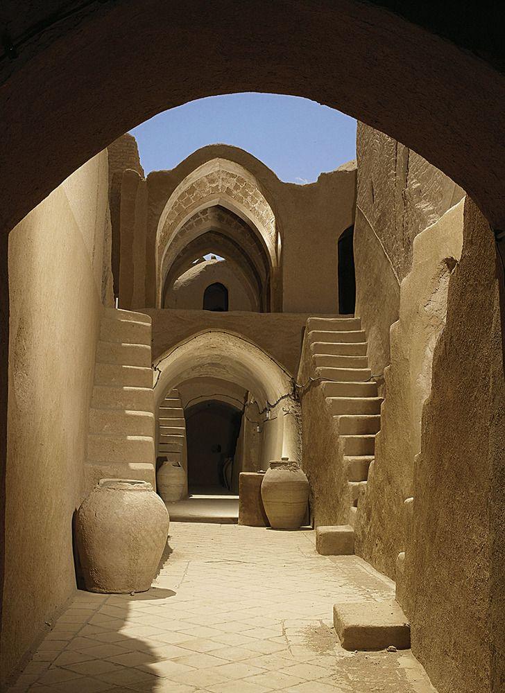 Yazd, Iran - Saryazd citadel - inside