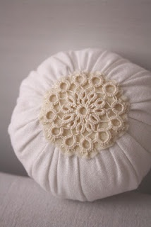 antique linen and vintage lace pin cushion
