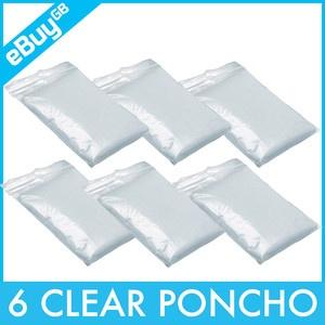 Clear Ponchos (6 for £5.99) - Festival Essential, eBay.