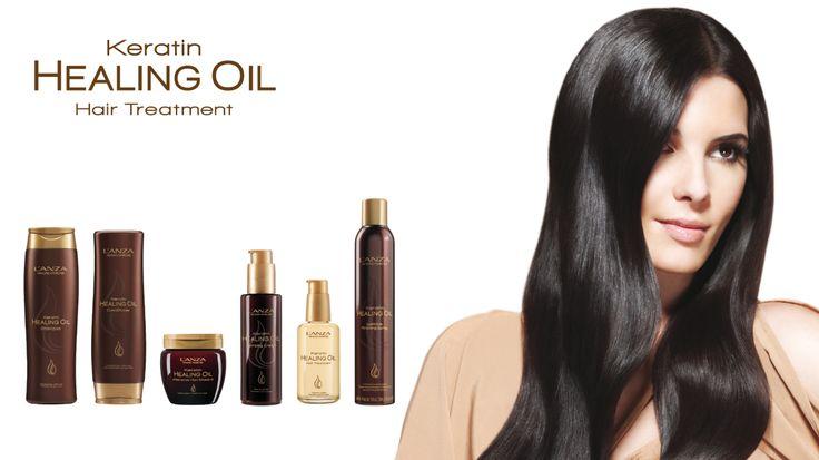 Hole dir deine Keratin Kur nach Hause. Mit L'anza Keratin Healing Oil.  Jetzt bestellen auf click&care.ch